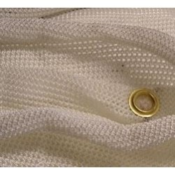 ERA BACKSTOP NETTING WHITE 2.7M X 12M